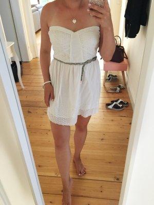 Bershka Robe bandeau blanc