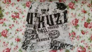 Yakuza Haut bandeau blanc-noir