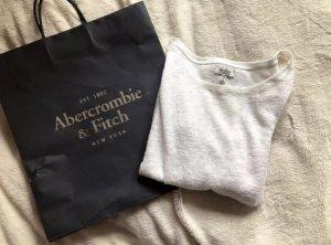 Weißes Basic Langarmshirt Bershka Gr.M