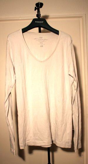 weißes basic Longshirt