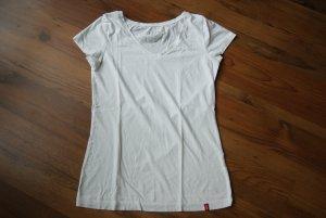 weißes basic Shirt/V-Ausschnitt