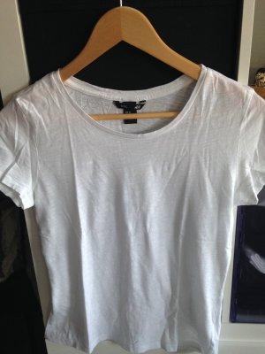 Weißes Basic-Shirt von H&M Gr. XS