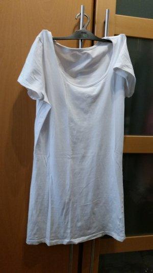 Weißes Basic T-Shirt