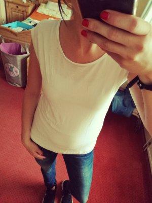 weißes Basic T-Shirt Gr. 32/34