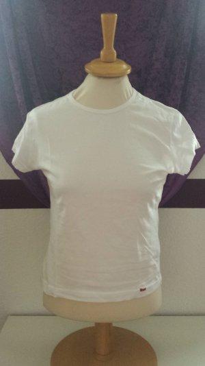 weißes Basic T-Shirt von Esprit, Gr. M / 38