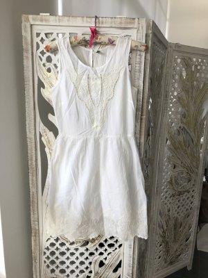 Weisses Baumwolle Kleid, 34 aus United Colors of Benetton