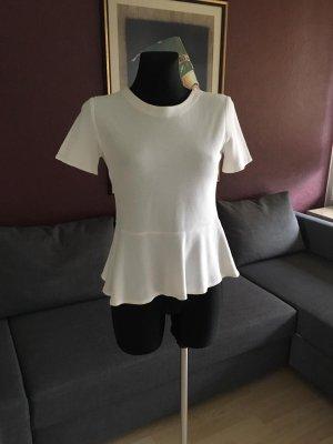 Zara Trafaluc Top básico blanco