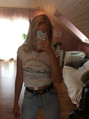 Weißes bedrucktes Tshirt