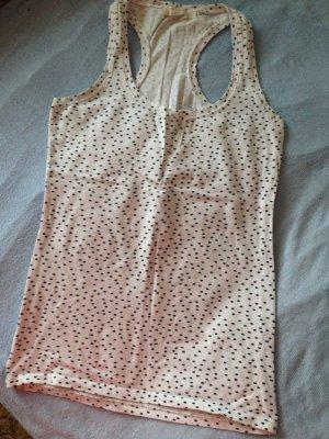 Weißes Bershka Shirt mit schwarzem Punktmuster / ungetragen / Größe 34