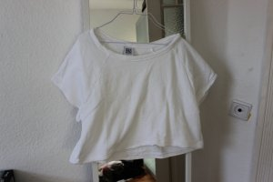 Weißes Bio-Baumwoll Shirt cropped FAIR FASHION
