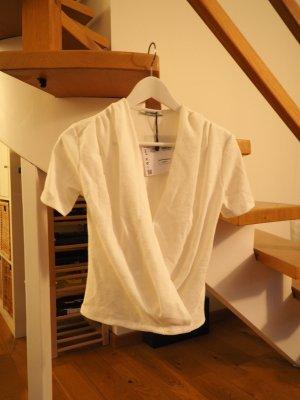 Zara Trafaluc T-shirt col en V blanc