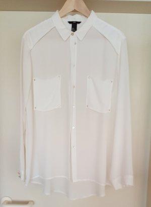 weißes Blusenhemd von H&M Gr. 44