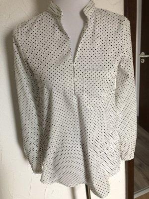 weißes Blusenshirt mit Herzen von Janina - Gr. XS