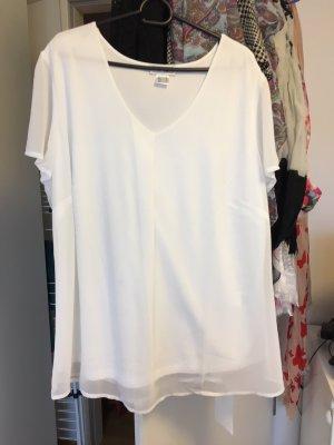 Weißes Blusenshirt mit V-Ausschnitt