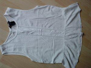 weißes Blusentop mit Vollant am Saum Größe 36 HM