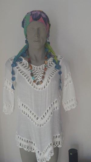 Camicia a tunica bianco Cotone