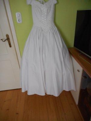 Weißes Brautkleid Gr. 38/M mit Perlen bestickt von Hänsel und Gretel