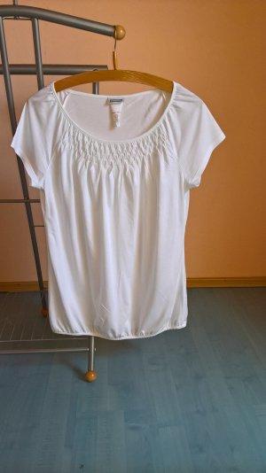 Weißes Carmenshirt von Street One