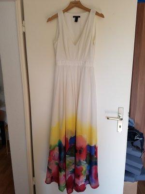 Mango Chiffon jurk veelkleurig