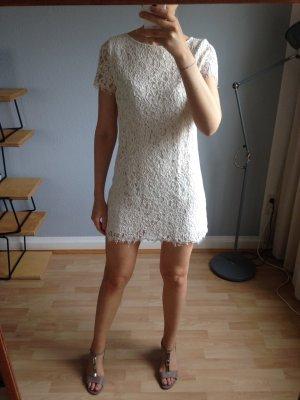 Weißes/Cremefarbenes Cocktail-Kleid von Zara