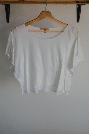 Weißes Crop Shirt