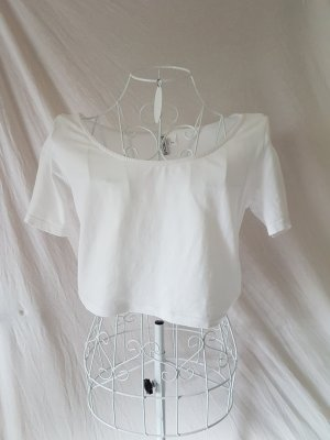 weißes Crop Shirt Gr. 38