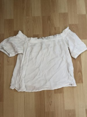 Bershka Camicia cropped bianco
