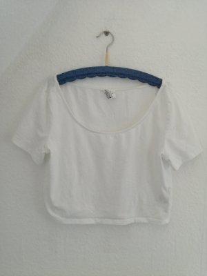 weißes Crop Top von H&M