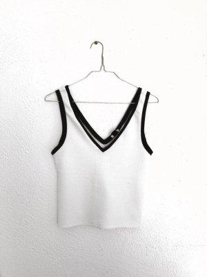 Weißes Crop Top von Zara