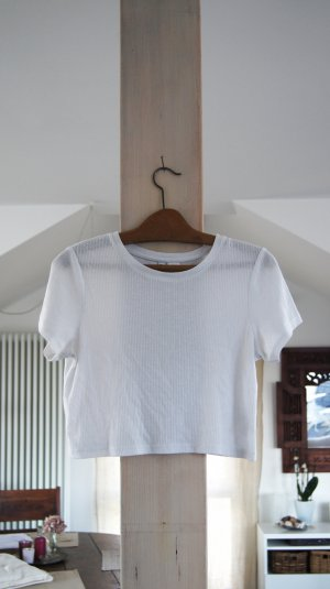 Weißes cropped shirt