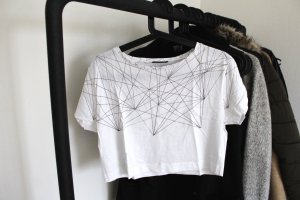 Weißes cropped Shirt AKA by Asos