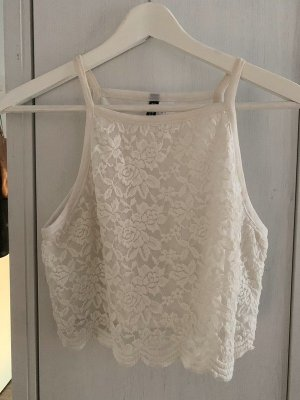 H&M Cropped Top natural white