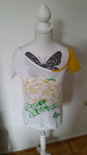 Weißes Diesel T-shirts mit einseitigem Schulterausschnitt