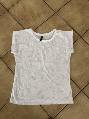 Weißes durchsichtiges Shirt von Jean Pascale - Gr. S