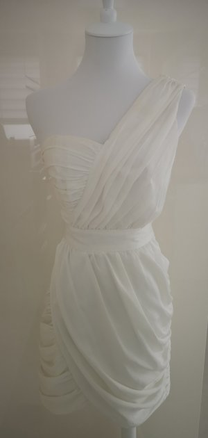 H&M Conscious Collection One Shoulder Dress white