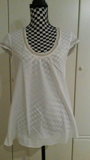 Weißes Esprit Tshirt in Blusenoptik