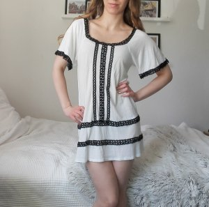 H&M Hippie Dress black-white