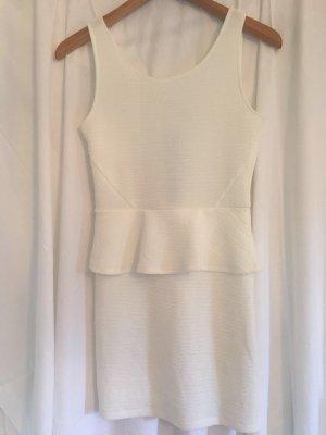 H&M Vestido peplum blanco
