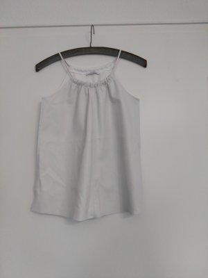 weißes Fakeleder Lederimitat Top von Zara