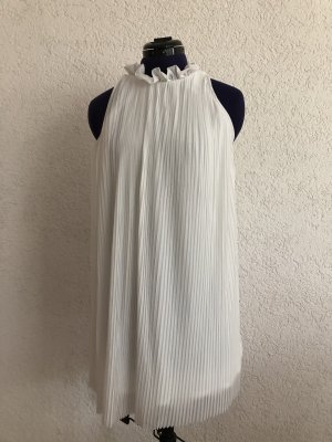 Weißes fließendes kurzes Kleid von Topshop Petite