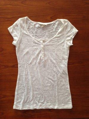 Weißes gemustertes T-shirt