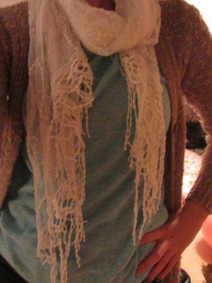 Weißes gesticktes Schal