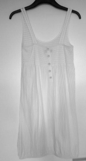 weißes gestreiftes Vero Moda Sommerkleid in Größe S mit Knopfleiste am Rücken