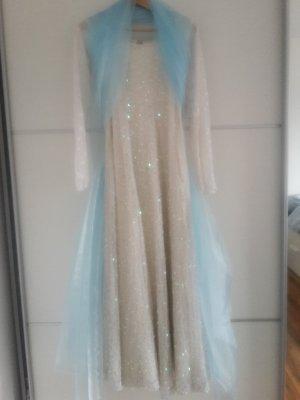 weißes Glitzer Kleid Pailetten Elsa