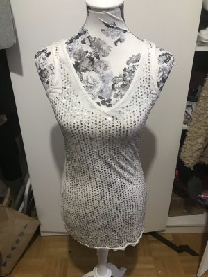 Weißes Glitzer Minikleid Mini kleid Kleidchen