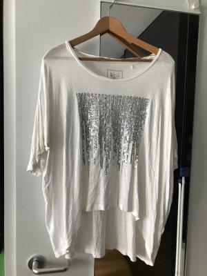 Weißes Glitzer Shirt s.Oliver