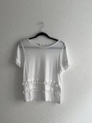 Weißes H&M Shirt mit Fransen