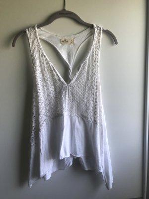 Hollister Crochet Top white