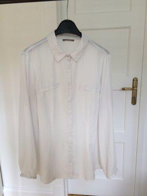 Weißes Hemd leicht transparent / Bluse / Blogger Trend