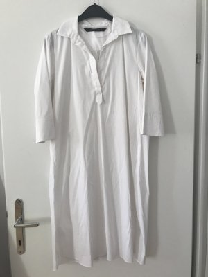 Zara Woman Shirtwaist dress white